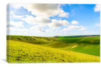 Lang Dale and North Dale, Yorkshire Wolds, Canvas Print