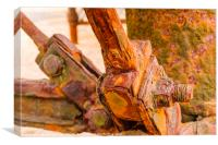 Rusty nuts and bolts, Canvas Print
