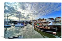 Anstruther in August, Canvas Print