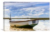 Small Craft on the high tide, Canvas Print