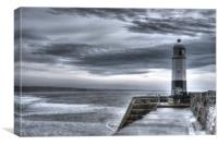 Porthcawl Lighthouse, South Wales, Canvas Print