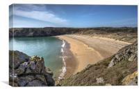 Barafundle Bay, Pembrokeshire, West Wales, Canvas Print