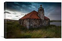Old Tin Roofed Steading, North Uist, Canvas Print