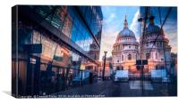 St Paul Cathedral At Sunset, Canvas Print