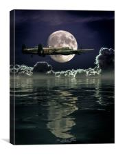 Solo by Moonlight, Canvas Print