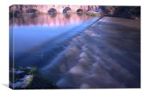 River Wey Tilford, Canvas Print