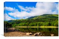Reflections on Loch Lubnaig, Canvas Print