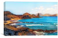 Pinnacle Rock Bartolome Island, Canvas Print