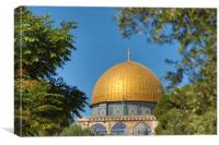 The Temple Mount Dome of the Rock, Jerusalem, Canvas Print