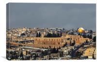 A view of the Temple Mount, Canvas Print