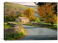 A Barn in Langstrothdale., Canvas Print