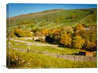 Kettlewell in Wharfedale, Canvas Print