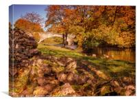 The Bridge at Kettlewell in Wharfedale, Canvas Print