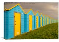 Bognor Beach Huts, Canvas Print