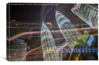 Petronas Towers cityscape, Canvas Print