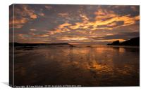 Fiery Sunset At Trevone Bay, Canvas Print