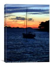 Sail into a Sunset, Canvas Print