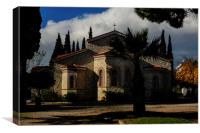 Greek Church of St George in Athens, Canvas Print