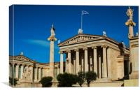 The Athens Academy, Canvas Print