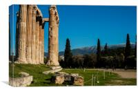 The Ancient Temple of Olympian Zeus, Canvas Print