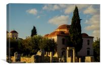 Fethiye Mosque In Athens, Canvas Print