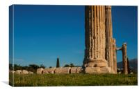 Fallen Column of the Temple of Zeus, Canvas Print