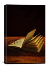 A Book and Glasses, Canvas Print