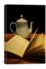 Tea and Literature, Canvas Print