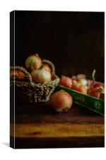 Onions and Crate, Canvas Print