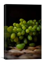 A Juicy Bunch of Grapes, Canvas Print