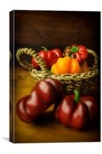 Peppers in Colour, Canvas Print