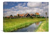 The hamlet Grotewerf on Marken, Canvas Print