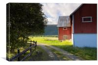 Falured shed in Norway, Canvas Print