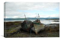 Isle of Mull Boats, Canvas Print
