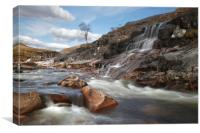 River Etive water fall, Canvas Print