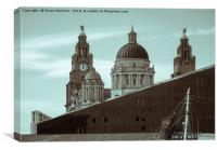 From Royal Albert Dock to Pier Head, Canvas Print