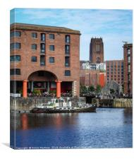 Royal Albert Dock and Liverpool Cathedral, Canvas Print
