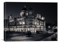 The Port of Liverpool Building, Liverpool (UK), Canvas Print