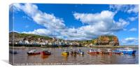Fishing Boats in Staithes harbour,North Yorkshire, Canvas Print