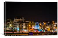 Margate Clock Tower and seafront, Canvas Print