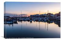 Reflections Ramsgate Inner Harbour, Canvas Print