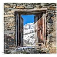 Door to the mountains, Canvas Print