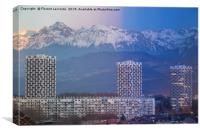 Grenoble, France 2019 : Day to night on the city, Canvas Print