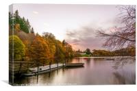 The Pitlochry hydro electric dam, Canvas Print
