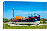 A Lovely restored Lifeboat ,Etoile du Nord (Star o, Canvas Print
