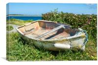 The Sad Old Rowing Boat., Canvas Print