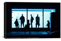 Figures of the night - London West End shoppers, Canvas Print