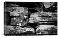 A dry stone wall, Pitlochry, Scotland, Canvas Print