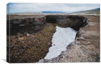 Cave of Surtshellir at summer time, Canvas Print