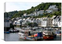 Polperro Harbour, Cornwall, Canvas Print